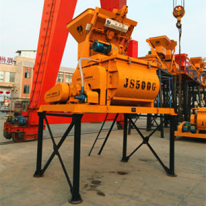 Twin Shaft Compulsory Electric Concrete Mixer (JS500) pictures & photos