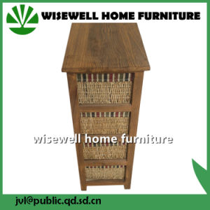Wood Living Room Cabinet with 4 Rattan Drawer (W-CB-429) pictures & photos