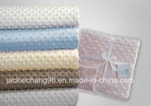 Bubble Embossed Dots Micro Mink Baby Blanket pictures & photos