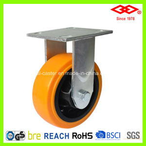 150mm Fixed Plate PU Heavy Duty Caster (D701-36FA150X50) pictures & photos