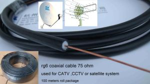 Customer Made Color Jacket RG6 Coaxial Cable Soild Cable pictures & photos