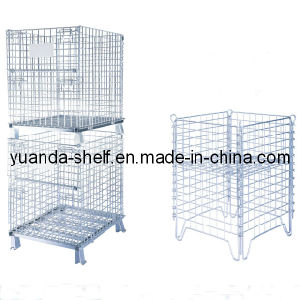 Warehouse Wire Mesh Folding Storage Metal Cage pictures & photos