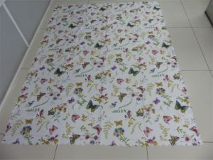 100% Polyester Transfer Printed Mock-Linen Table Cloth pictures & photos