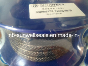 Black Graphite PTFE Packing with Oil, Braided PTFE Packing (SUNWELL) pictures & photos
