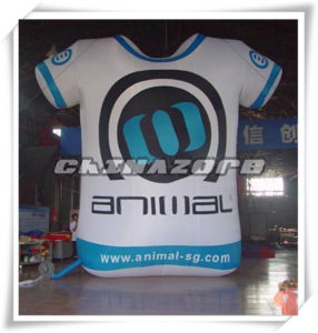Customized Big Size Sport Suit Model Inflatable Replica for Advertising