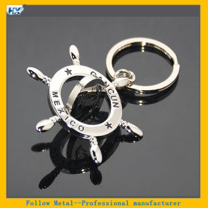 3D Double Sides Mini Rotation Rudder Shaped Mexico Cancun Tourist Souvenirs Helm Keyring Spinner Keychain pictures & photos