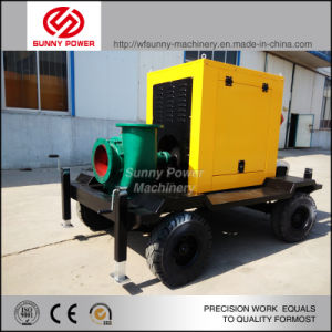 8inch Diesel Slurry Pump for Irrigation/Flood Drainage with Trailer pictures & photos
