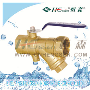 Brass Filter with Ball Valve pictures & photos
