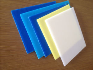 Polypropylene Plastic Printed Corflute Sheets pictures & photos