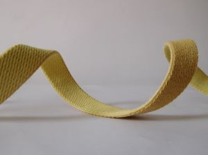 20mm Yellow Aramid Fiber Elastic Webbing for Fire Safety Garment Accessories pictures & photos