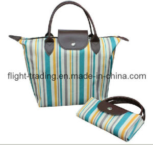 Polyester Shopping Bag with PU Totes for Promotional pictures & photos