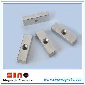 Permanent Neodymium Countersunk Block Magnets pictures & photos