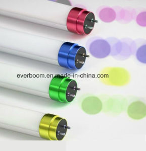 18W 2300lm LED Tube with Colorful Metal End Cap (130lm/w)