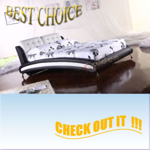 Modern New Design Leather Soft Bed (G901) pictures & photos