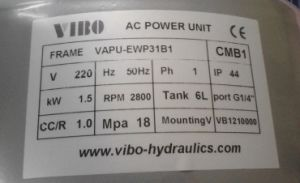 Car Lift Hydraulic Power Unit Vapu-Ewp31b1 pictures & photos