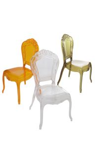 Resin PC Transparent Princess Chairs for Events pictures & photos