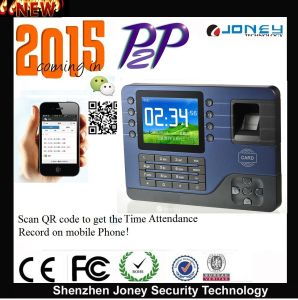 2015 New Cloud P2p off-Line/Online Punch Card Biometric Fingerprint Time Attendance with Free Rams Software pictures & photos