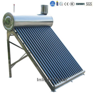 CE Approved Evacuated Tube Stainless Steel Solar Heater (80L-350L) pictures & photos