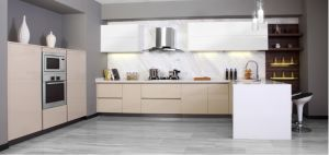 2017 Modern White Lacquer Kitchen Furniture (zx-058)