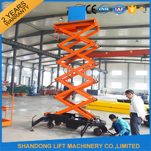 Large Mobile Hydraulic Outdoor Elevating Motorized Scissor Lifting Platform pictures & photos