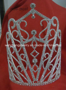 Rhinestone Pageant Tiara, Pageant Crown Dh09-28107, Fashion Accessories