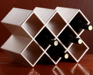 Leather Red Wine Rack for Restaurant pictures & photos