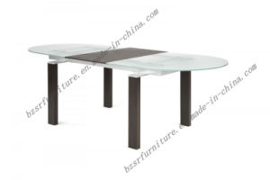 Tempered Glass and MDF Dining Table (ST-5198)