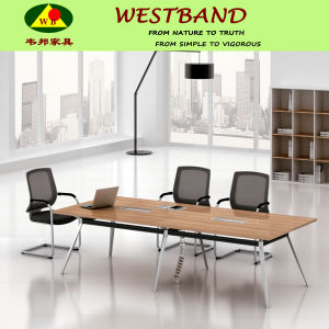 Newest Design Modern Cheap Metal Wooden Meeting Table (WB-Bell)