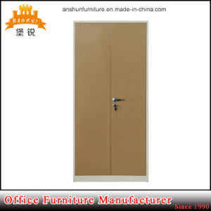 Best Selling Kd Cheap Metal Steel 2 Doors Clothes Cabinet pictures & photos