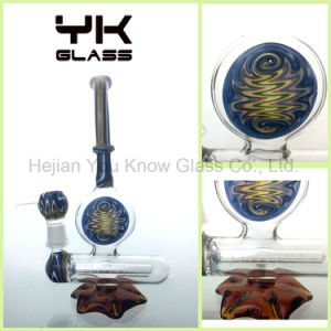 Factory Colored Glass Hand Pipes Smoking Bubbler Colored Hookah pictures & photos