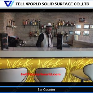 Modern Bank Bar Counter Solid Surface Bar Table for Bank pictures & photos