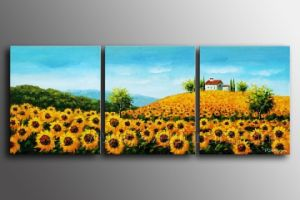 100% Handmade Sunflower Painting on Canvas for Home Decoration (LA3-176) pictures & photos