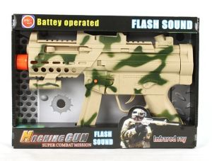 Electric Camouflage Shake Musical Gun Toy (399-1AB) .