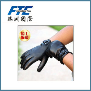 Men Fashion Winter Warm Leather Motorcycle Glove pictures & photos