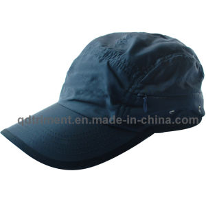 Microfiber Breathable Fabric Zipper Pocket Sport Baseball Cap (TRRC003) pictures & photos