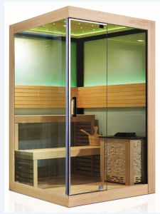 Exquisite Portable 2 Person Use Sauna Room with Harvia Sauna Stove (M-6033) pictures & photos