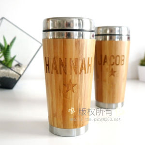 Stainless Steel Wooden Travel Mug pictures & photos