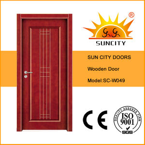 Wood Door with Glass Vision Panel pictures & photos