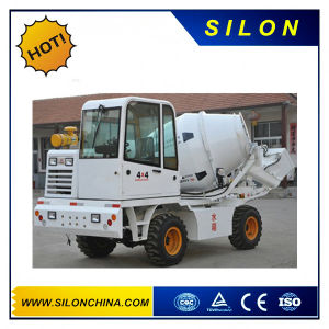 Silon Mini Truck Mounted Self-Loading Concrete Mixer Truck with 4WD pictures & photos