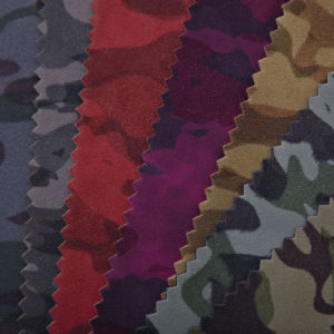 Best Sale PU Leather with Camouflage Pattern (ZTFXXE) pictures & photos