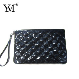 Promotion Shiny Leather Quilted Zipper Coin Purse pictures & photos