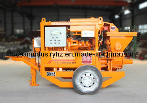 Small Portable Concrete Pump in Orange Colour pictures & photos