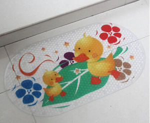 Wholesale OEM Yellow Durk Printed PVC Bath Rug pictures & photos