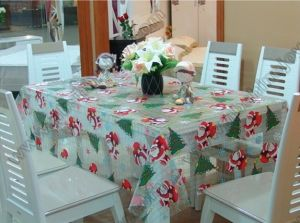 Christmas Pattern Table Cloth, PVC Table Cover pictures & photos