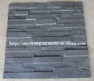Building Material Black Slate Stack Stone for Wall Panel pictures & photos