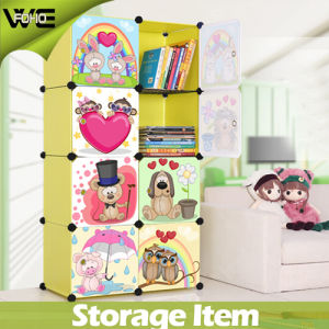 DIY Utility Folding Kids Storage Box Wholesale Plastic Cabinet pictures & photos