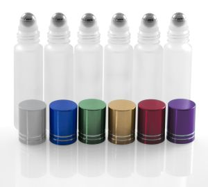 Glass Roller Bottles with Metal, Stainless Steel Roll Balls. 10ml, 1/3oz Essential Oil Roll on Bottles Are Perfect for Aromatherapy, Perfume, & Lip Gloss pictures & photos
