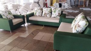 Green Color Dubai Fabric Sofa in Living Room Furniture (2190) pictures & photos