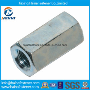 DIN6334 Zinc Plated Hex Long Nut Round Long Nuts Metric Coupling Nut pictures & photos