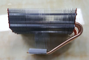 Aluminum Fins and Copper Heat Pipes LED Heat Sink pictures & photos